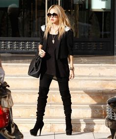 Rachel Zoe at Barneys in New York. Hermes Birkin bag