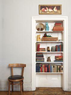 Book case & How to hide an unused door   Nesting   Pinterest   Doors Apartments ...