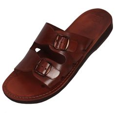 Red Sea Handmade Leather Men's Sandals (Brown), Clothing   Judaica Web ...