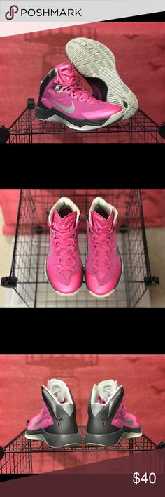 Pink Nike Hyperdunk Womens 6.5 Pink Nike Hyperdunk Womens 6.5. Smoke free and in excellent condition. No rips tears or damage. Perfect for basketball season! Nike Shoes Athletic Shoes