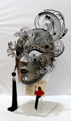 """Riccio"" Paper and metal mask-pin it from carden Venetian Carnival Masks, Carnival Of Venice, Venetian Masquerade, Masquerade Party, Masquerade Masks, Mardi Gras, Venice Mask, Cool Masks, Beautiful Mask"