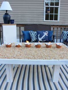 Make a S'more's Roasting Table for Your Yard