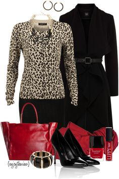 """Leopard & red"" by enjoytheview ❤"