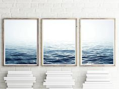 Ocean Print Set of 3 Ocean Waves Print Set Ocean Print