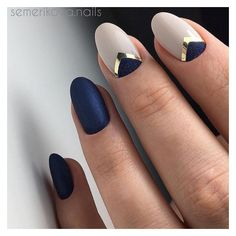 Minimal Nail Art Design Blue | Top Nail Art | Pinterest | Minimal ❤ liked on Polyvore featuring nails