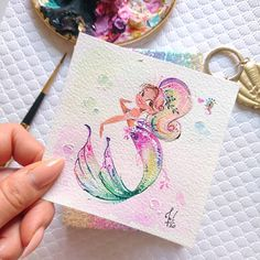 "⠀⠀⠀⠀⠀⠀⠀⠀⠀⠀⠀Michalina Grzegorz on Instagram: ""She is Joy she is a RAINBOW 🌈 My first rainbow mermie!🧜🏽‍♀️ ✨✨✨✨ Just added to my #EtsyShop! EDIT: Only one LEFT! HAVE A WONDERFUL DAY!…"" Mermaid Artwork, Coin Purse, Rainbow, Joy, Etsy Shop, Instagram, Rain Bow, Rainbows, Glee"