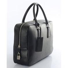 20f79a088e70 €161.00 Sale Prada Saffiano Leather Briefcase Vs0088 - Black On Line Prada  Saffiano, Leather