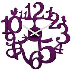 Koziol Pip Clock | Funky Purple Wall Clock
