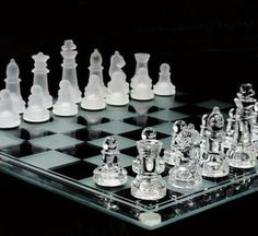 #Glass chess set classic vintage #draughts #pieces tournament board game table gi,  View more on the LINK: http://www.zeppy.io/product/gb/2/302011565901/