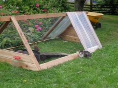 Need to incorporate this idea into a mini hoop house for hardening off my greenhouse plants and keeping them safe from our bad storms and heavy winds in early spring.
