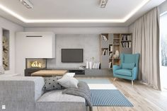 Salon styl Nowoczesny - zdjęcie od BAGUA Pracownia Architektury Wnętrz - Salon…