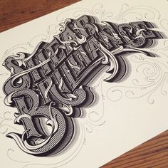 Shear-Brilliance-by-Luke-Lucas #Typography & #Calligraphy