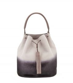 Vaughan Grey Two-Tone Bucket Bag Anya Hindmarch