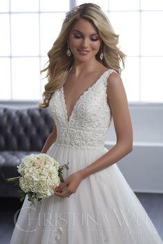 Christina Wu 15653 Dress - MadameBridal.com Wedding Dress Pictures, Wedding Dress Styles, Dream Wedding Dresses, Bridal Dresses, Wedding Gowns, Spring Wedding Dresses, Wedding Hair, Spring Weddings, How To Dress For A Wedding