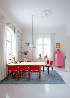 The wonderful home of Danish home accessories designer Charlotte Gueniau