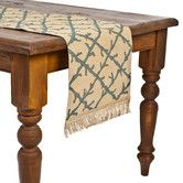 Found it at Wayfair - Ecoaccents Coral Lattice Burlap Table Runner