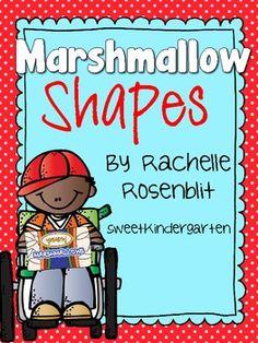 *FREE* Marshmallow Shapes! {Shape Building} - Rachelle Rosenblit - TeachersPayTeachers.com
