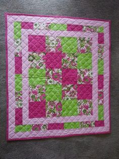 First baby quilt I made, I used a pattern purchased from e patterns
