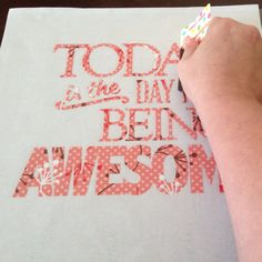 Create a Vinyl-Lettered Canvas ... Ah-ha! clear contact paper as transfer paper when using vinyl!!!