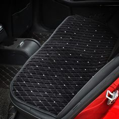 Buy Wholesale Winter Diamond Plush Car Rear Seat Cushion Woman Universal Automobile Pads - Black from Chinese Wholesaler
