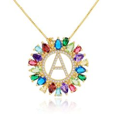 #necklaces#crystalaccessories#initialpendantnecklace