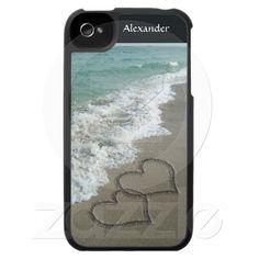 iPhone case #ValentinesDay #hearts #beach