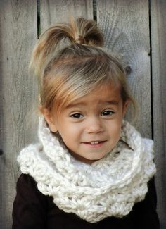Chunky Crochet Cowl for Kids girls scarf girls by JuneBugBeanies