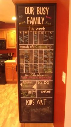 Organization Station- I like that there is a place for a daily bible verse. :) #diy_wall_calendar