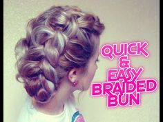 QUICK and EASY BRAIDED BUN HAIRSTYLE | Awesome Hairstyles