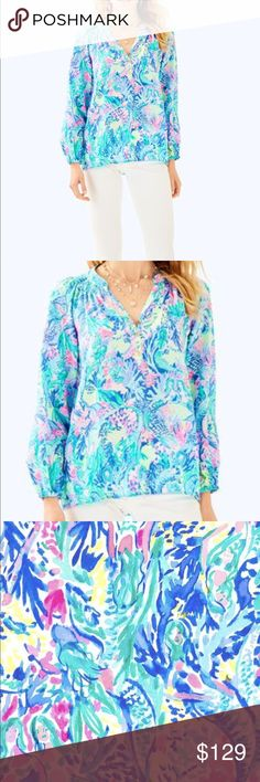 af0f97d3a896cd NWT Mermaid Cove Elsa Blouse - Lilly Pulitzer M Calling all MERMAIDS! This  gorgeous NWT