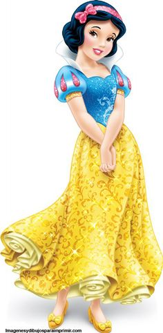 Blancanieves princesa para imprimir