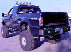 black lifted nicely done Ford 4X4 Offroad Truck