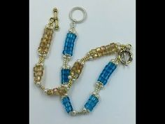Welcome to my new Mini-Series Great Holiday Gifts In this video you will learn to make these Gold and Aqua earrings using Cubic Right Angle Weave (CRAW) This. Crystal Earrings, Beaded Earrings, Beaded Jewelry, Beaded Bracelets Tutorial, Earring Tutorial, Necklace Tutorial, Diy Jewelry Videos, Lace Bracelet, Pearl Bracelet