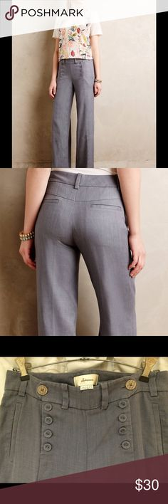 Selling this Anthropologie Elevenses Tailored wide leg trouser in my Poshmark closet! My username is: lketcham. #shopmycloset #poshmark #fashion #shopping #style #forsale #Elevenses #Pants