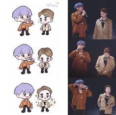Chanyeol, Exo Cartoon, Exo For Life, Exo Anime, Exo Fan Art, Exo Do, Exo Memes, Kpop Exo, Kpop Fanart