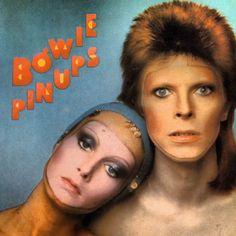 """""""Pin Ups""""1973 de David Bowie. álbum recopilatorio, con covers de la segunda mitad de los sesenta. Bowie canta versiones de Them, Pink Floyd, The Yardbirds, The Who, The Kinks, entre otros. Foto Bowie con la modelo Twiggy."""