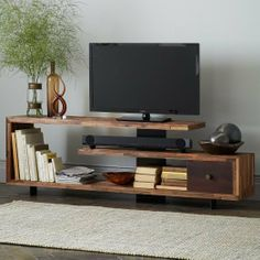 Staggered Wood Console on Wanelo