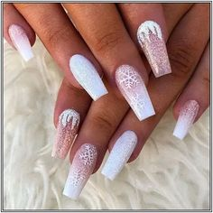 60 Simple Acrylic Coffin Nails Designs Ideas for 2019 - Winter Nails Acrylic - holiday nails 60 Simple Acrylic Coffin Nails Designs Ideas for 2019 – Winter Nails Acrylic - Water Cute Christmas Nails, Xmas Nails, Holiday Nails, Pink Christmas, Christmas Acrylic Nails, Christmas Design, Nails 24, Christmas Time, Christmas Gel Nails