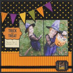 Would make a cute card too, with a Halloween stamp instead of pics. Pebbles Inc: CHA Summer 2012 Sneak Peek: Tricks and Treats