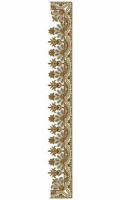 9444 Saree Embroidery Design