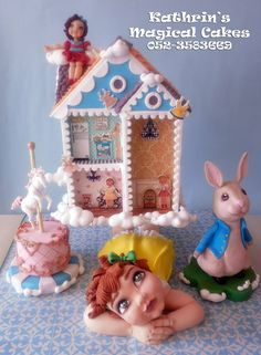 Kathrin's Magical Cakes - DAY DREAMING OF TOYS, VINTAGE STYLE , WON 2ND PRIZE ON ICES ISRAEL 2015