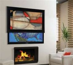 How could you use art to hide the TV?