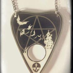 Ouija Planchette Pentagram Necklace