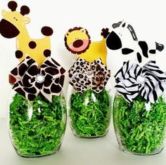Safari Party Centerpieces, Jungle Animal Table Decorations, Mason Candy Jar, Baby Shower and Birthday Table Decor, Zoo Animal Party Decor 3 year Birthday Party Animals, Animal Party, Safari Animals, Safari Party Centerpieces, Baby Shower Centerpieces, Jar Centerpieces, Safari Table Decorations, Lion King Baby Shower, Baby Boy Shower