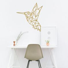 Diyi Geometric Hummingbirds Wall DecalDecal