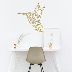 Diyi Geometric Hummingbirds Wall DecalDecal