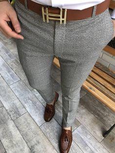 Cut Slim Fit Men's Plaid Casual Trousers Pants - Men's style, accessories, mens fashion trends 2020 Blazer Outfits Men, Stylish Mens Outfits, Mens Fashion Suits, Fashion Pants, Style Fashion, Mens Plaid Pants, Mens Trousers Formal, Formal Men Outfit, Mens Clothing Styles