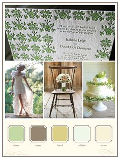 woodsy spring wedding color inspiration