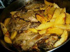 Chuleta de Cerdo con Papas al horno