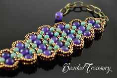 Bead pattern rulla pattern seed bead pattern by BeadedTreasury